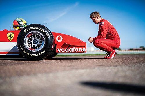 GALERÍA: Mick Schumacher al volante del Ferrari F2002 en Fiorano