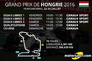 Formule 1 Actualités Le programme TV du Grand Prix de Hongrie