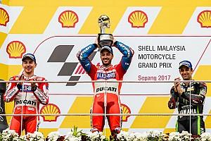 MotoGP Race report Malaysian MotoGP: Dovizioso wins to keep title hopes alive