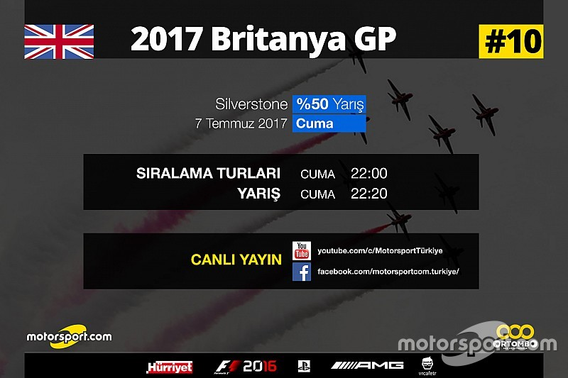2017 Britanya GP Sanal Turnuva: Canlı Yayın