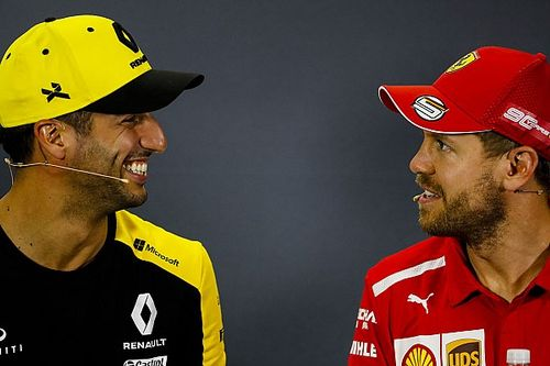 Ricciardo planning helmet swap with former F1 teammate Vettel
