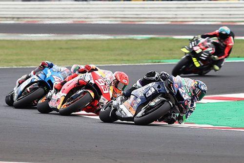 """Bastianini, """"İlk podyumum için 'MotoGP'nin patronu' Marquez'i yenmek harika"""""""