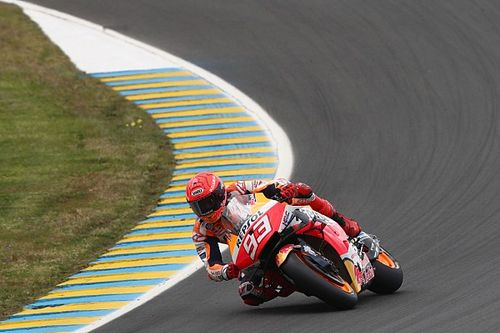 French MotoGP: Marquez quickest in wet third practice