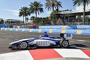 Indy Lights Race report St Pete Indy Lights: Herta holds off Urrutia for Race 2 win