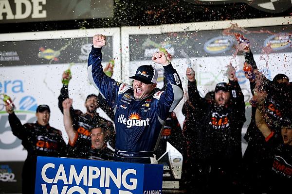 NASCAR Truck Race report Johnny Sauter takes Truck win in wild Daytona opener