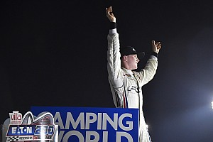 NASCAR Truck Race report Justin Haley takes dramatic maiden Truck win at Gateway