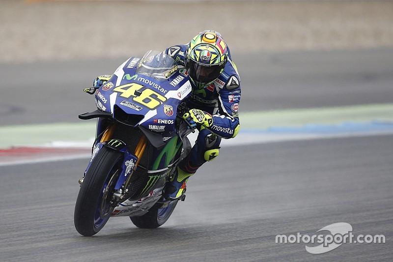 "Rossi says Michelin ""behind schedule"" with wet MotoGP tyres"