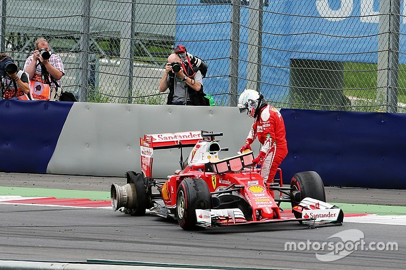 Pirelli says kerb could have caused Vettel's Austrian blowout