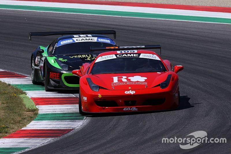 Baccarelli e Ferrara su una Ferrari 458 in GT Cup al Mugello