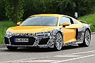 Automotive Audi R8 spied with revised face and massive oval exhaust tips