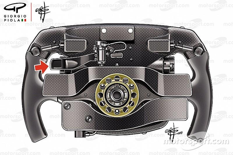 La misteriosa leva del volante de Vettel