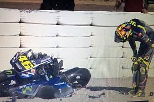 MotoGP Crónica de test La pretemporada arranca con una espectacular caída de Rossi