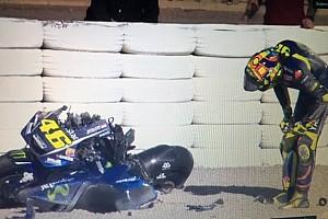 MotoGP Relato de testes Pré-temporada começa com queda espetacular de Rossi