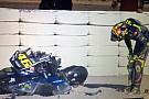 La pretemporada 2018 arranca con una espeluznante caída de Rossi