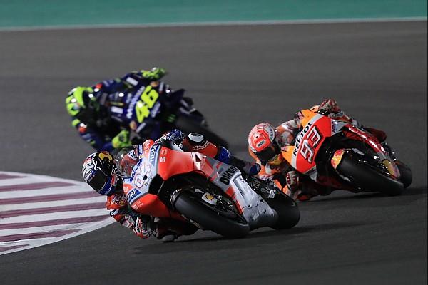 MotoGP Race report Qatar MotoGP: Dovizioso beats Marquez to win by 0.027s