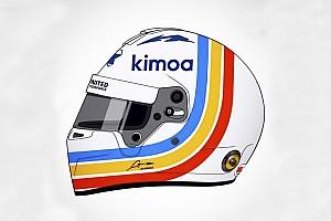 IMSA Noticias de última hora  Así será el casco de Alonso para las 24 Horas de Daytona