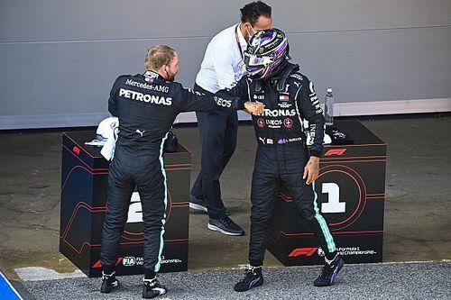 """A Mercedes nem érti, miért mentek """"nagyon gyenge"""" köröket az időmérő végén"""