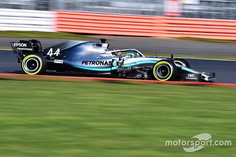 Hamilton tras sus primeros kilómetros con el W10: