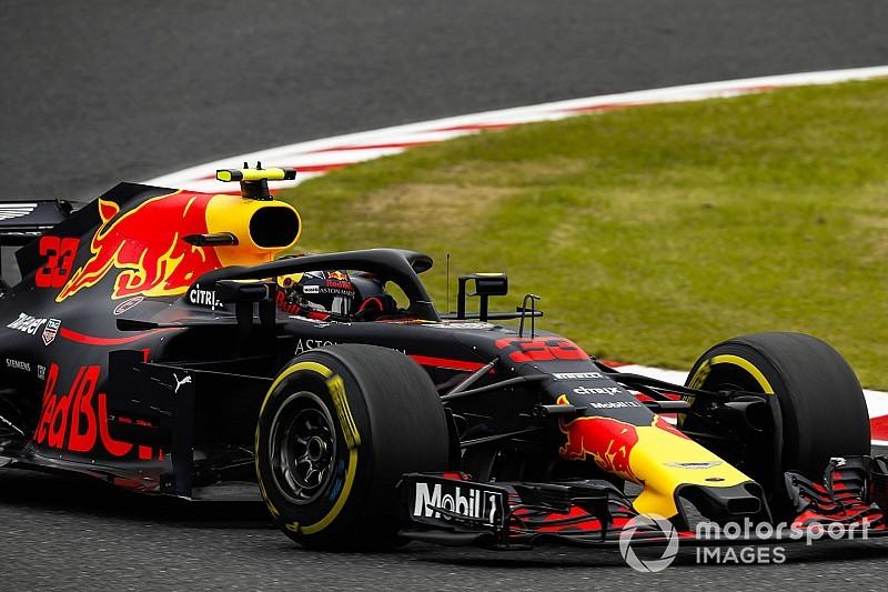 Verstappen sufrió en el viernes del GP de Japón