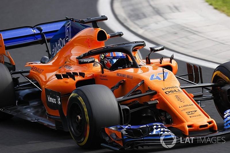 Alonso cede su Mclaren a Norris en el FP1 de Spa