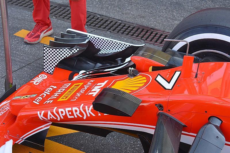 Технічний брифінг: Ferrari перевіряє гнучкість крила