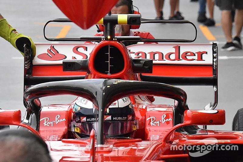 Ferrari: studiata l'influenza dell'Halo sulla portata dell'airbox