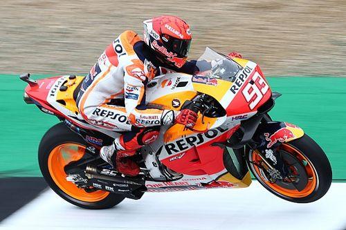British MotoGP: Marquez fastest in FP1 despite 270km/h crash
