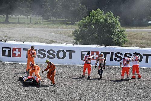 Las fotos de la accidentada clasificación de MotoGP en Sachsenring