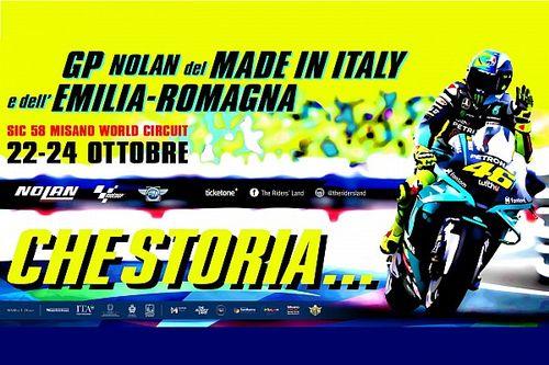 El poster que Misano usa para despedir a Valentino Rossi