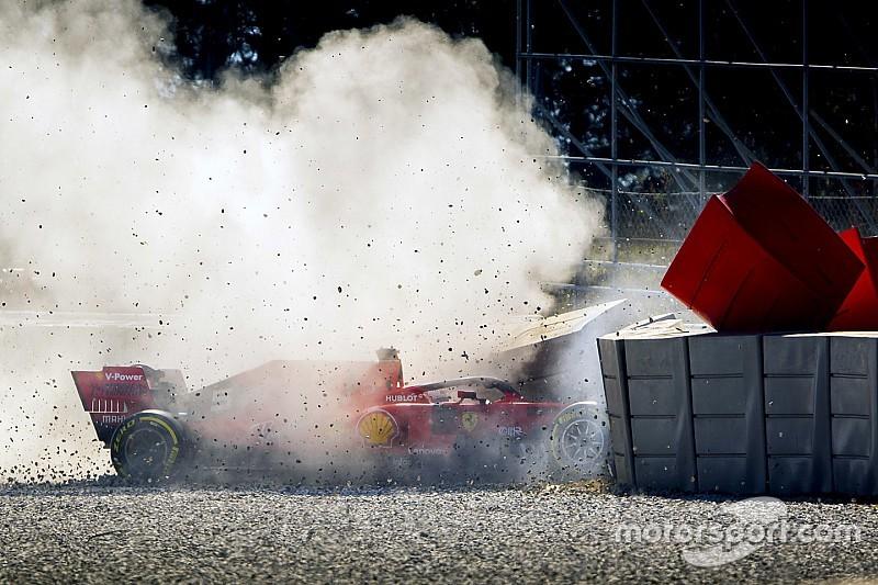 Vettel dice que el daño hace difícil encontrar una causa de choque
