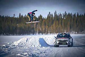 Vídeo y fotos: Rovanpera y el 'show' del snowboard en Laponia