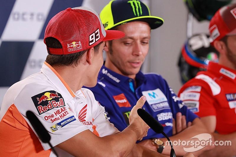 Rossi esnoba Márquez e MotoGP pega fogo em Misano