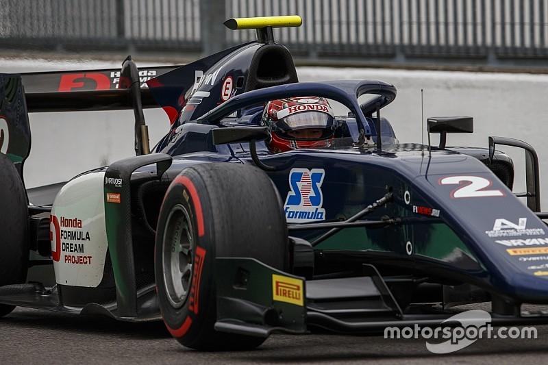 F2 Monza: Makino menang feature race dari P14, Gelael finis P12
