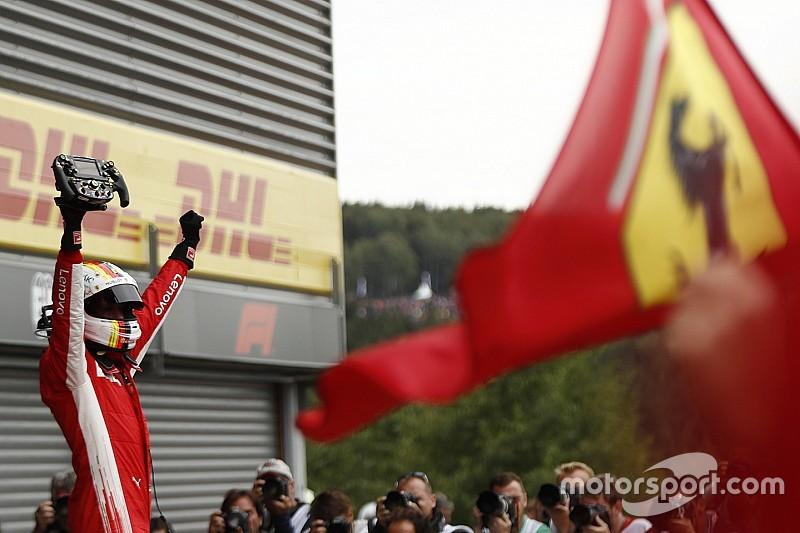 Destacada victoria de Vettel en una carrera con caos al inicio en Spa