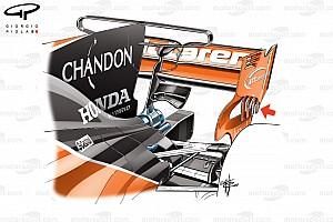 Formel 1 Analyse Formel-1-Technik: Der neue T-Flügel am McLaren MCL32