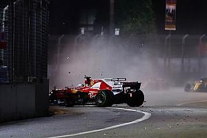 F1 Entrevista Vettel no sabe qué sucedió en el accidente en Singapur