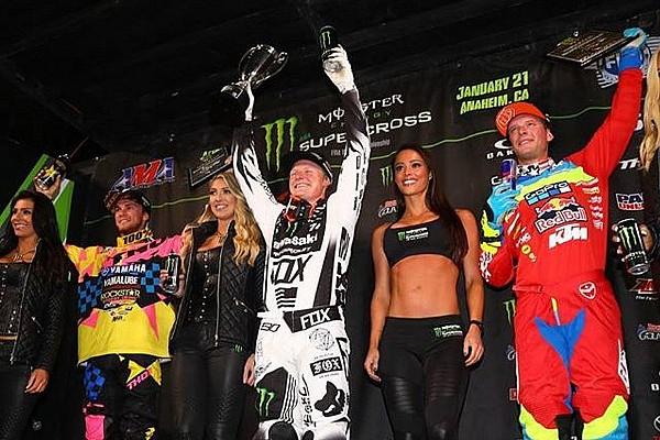 Supercross Gara Primo centro stagionale nella 250 per Justin Hill ad Anaheim