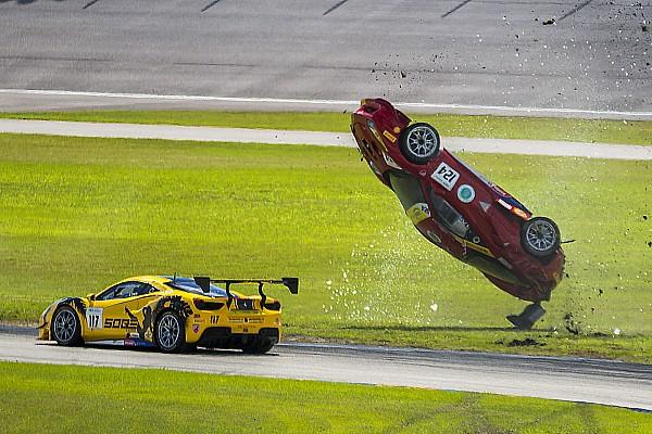 Ferrari Самое интересное Тройной переворот: авария в Ferrari Challenge