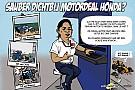 Formule 1 Cartoon van Cirebox - Sauber met Honda-motor?