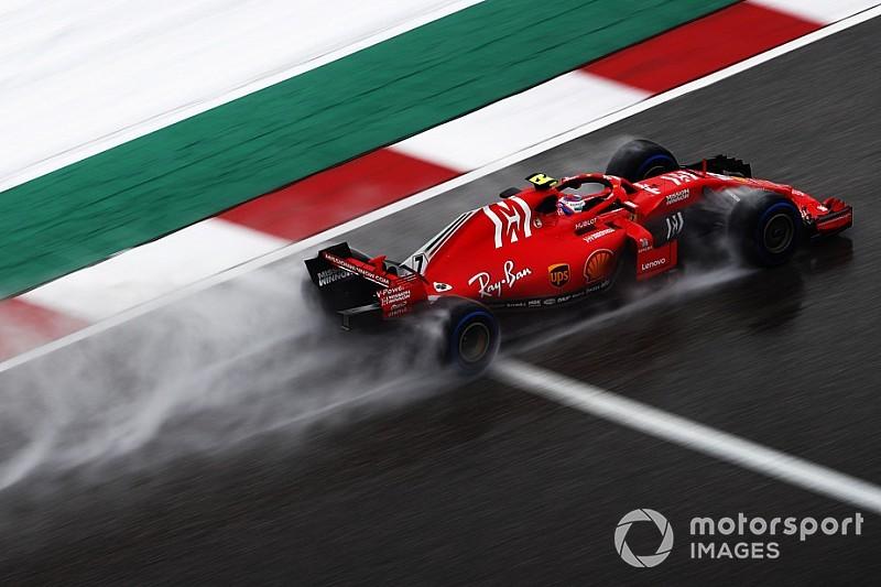 Troppa acqua per Räikkönen: