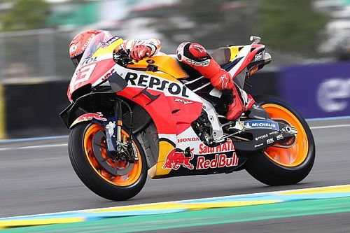 French MotoGP: Marc Marquez quickest in mostly wet FP3