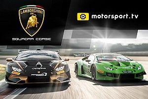 Lamborghini Squadra Corse lanza su canal exclusivo en Motorsport tv