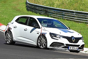 Renault Megane RS Trophy spied performance testing At Nurburgring