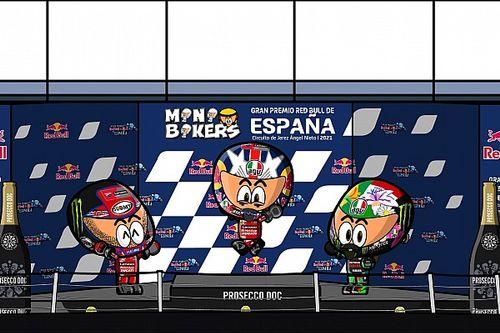 Vídeo: el resumen del asombroso GP de España de MotoGP, por Minibikers