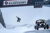 Doornbos en snowboarder, een spectaculair rondje Circuit Zandvoort