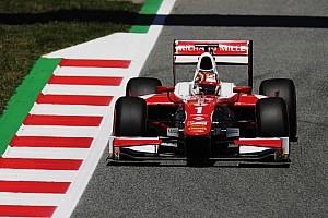 FIA F2 Relato de classificação Leclerc é pole em Barcelona, Sette Câmara larga em 14º