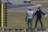 Kart sürücüsü Corberi, kavgadan sonra bir daha yarışmama yemini etti