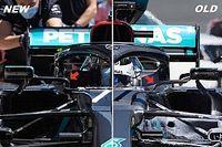 F1: la temible actualización de Mercedes, más allá del color