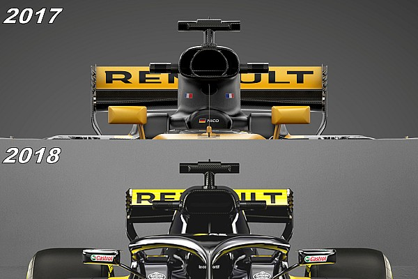 Formula 1 Special feature Slide view: See why Renault's '2018 car' was mainly superficial