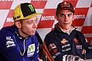 """Márquez: """"Espero que Rossi não siga melhorando com os anos"""""""